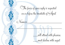 custom response cards - blue - leilani (set of 10)