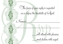 custom response cards - sage - leilani (set of 10)