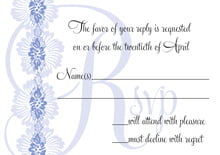 custom response cards - periwinkle - leilani (set of 10)