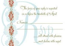 custom response cards - spice & ocean - leilani (set of 10)