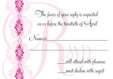 custom response cards - bright pink - leilani (set of 10)