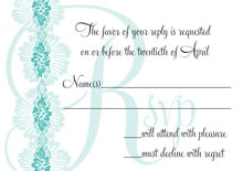 custom response cards - aruba - leilani (set of 10)