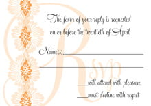 custom response cards - tangerine - leilani (set of 10)