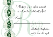 custom response cards - deep green - leilani (set of 10)
