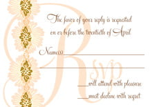 custom response cards - antique gold & sand - leilani (set of 10)