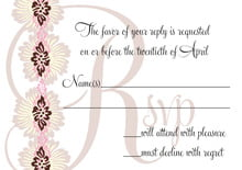custom response cards - cocoa & pink - leilani (set of 10)