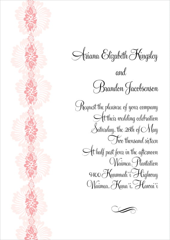custom invitations - grapefruit - leilani (set of 10)