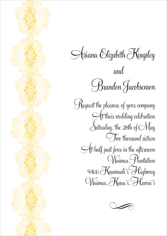 custom invitations - sunburst - leilani (set of 10)