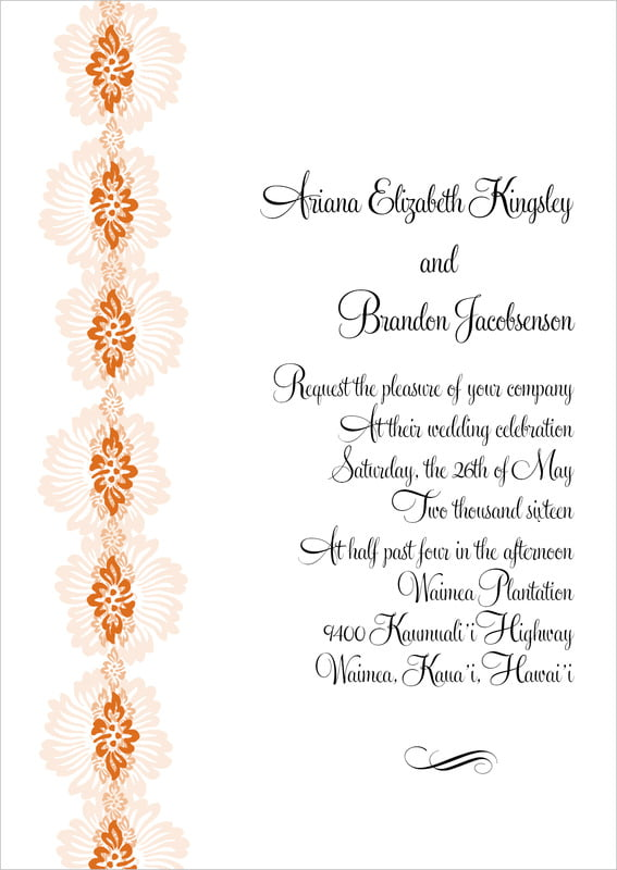 custom invitations - spice - leilani (set of 10)