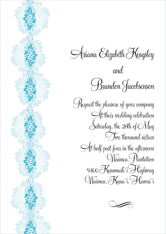 custom invitations - sky - leilani (set of 10)