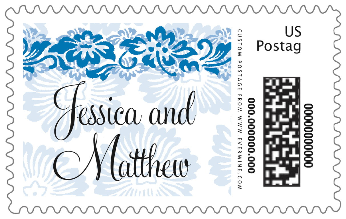 custom large postage stamps - blue - leilani (set of 20)