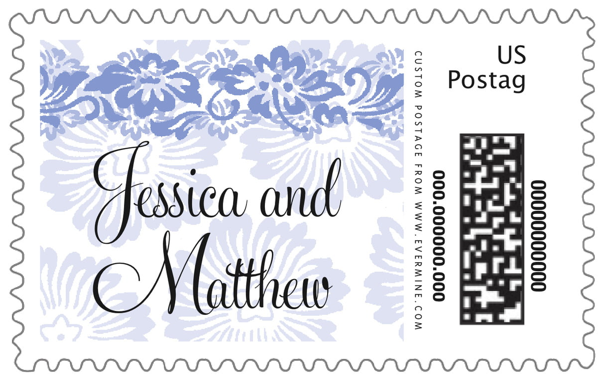 custom large postage stamps - periwinkle - leilani (set of 20)