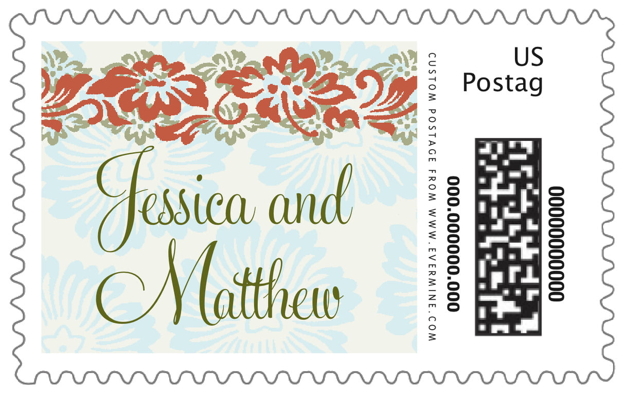 custom large postage stamps - spice & ocean - leilani (set of 20)