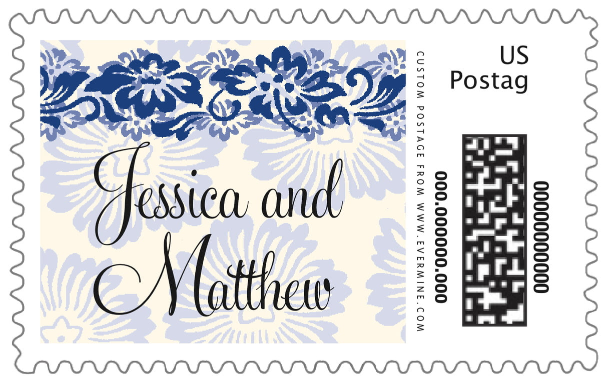 custom large postage stamps - deep blue - leilani (set of 20)