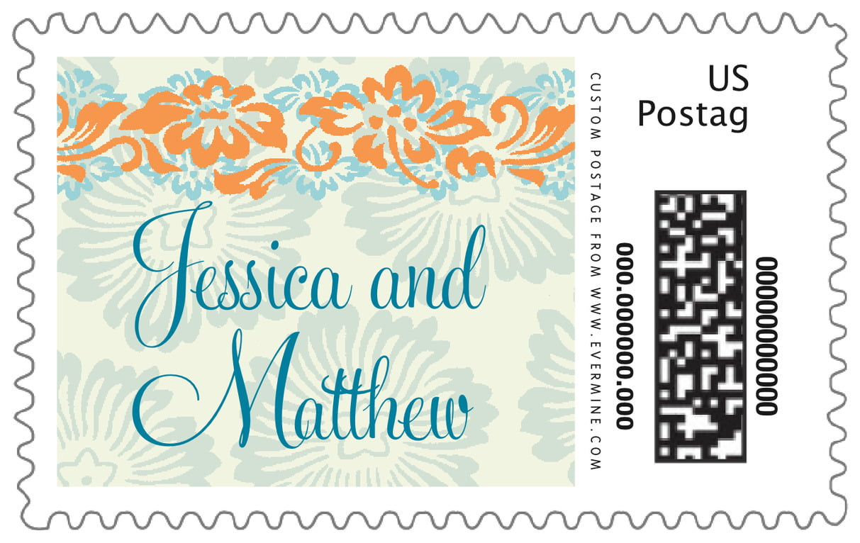 custom large postage stamps - melon & bay - leilani (set of 20)