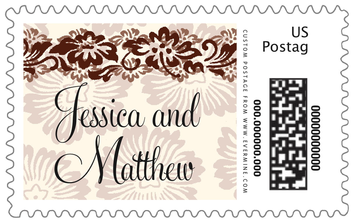custom large postage stamps - chocolate - leilani (set of 20)
