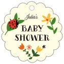 Lady Bug baby shower tags