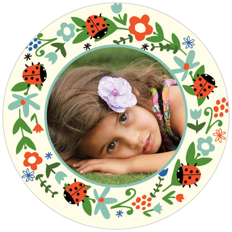 circle photo labels - aruba - lady bug (set of 20)