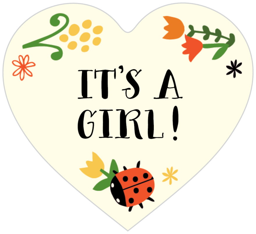 small heart food/craft labels - tangerine - lady bug (set of 20)