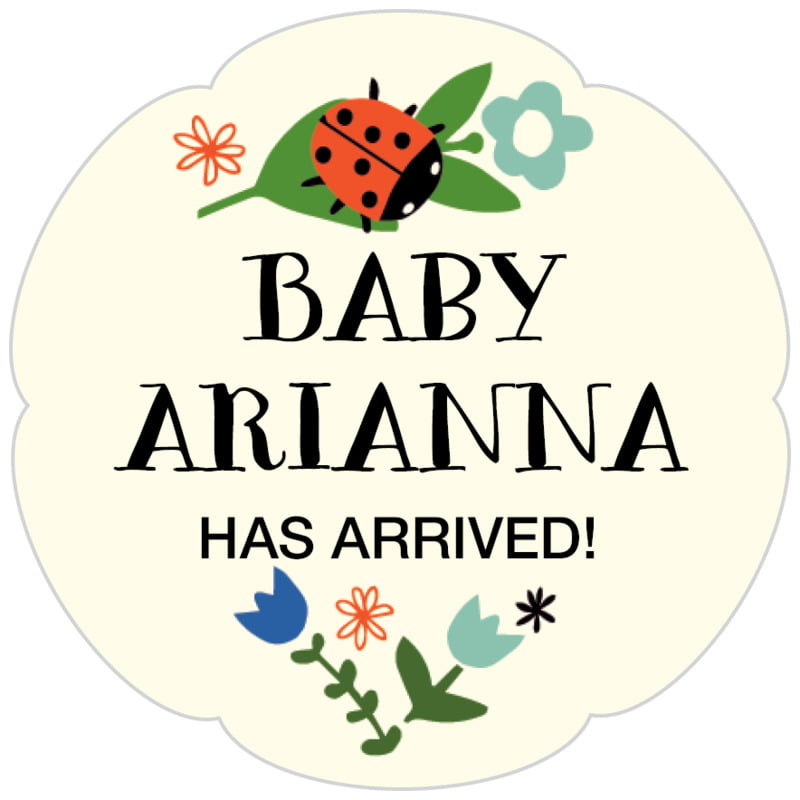 petal food/craft labels - aruba - lady bug (set of 30)
