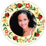 Lady Bug circle photo labels