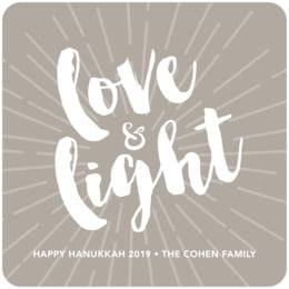 Love & Light square coasters