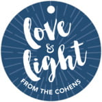 Love & Light circle hang tags