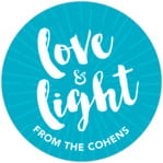 Love & Light Circle Label In Dark Sky