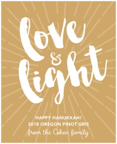 Love & Light holiday wine labels
