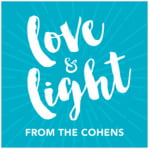 Love & Light Square Label In Dark Sky