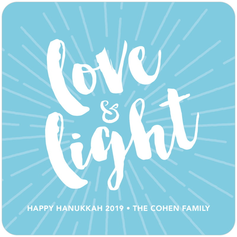 square holiday coasters - sky - love & light (set of 12)