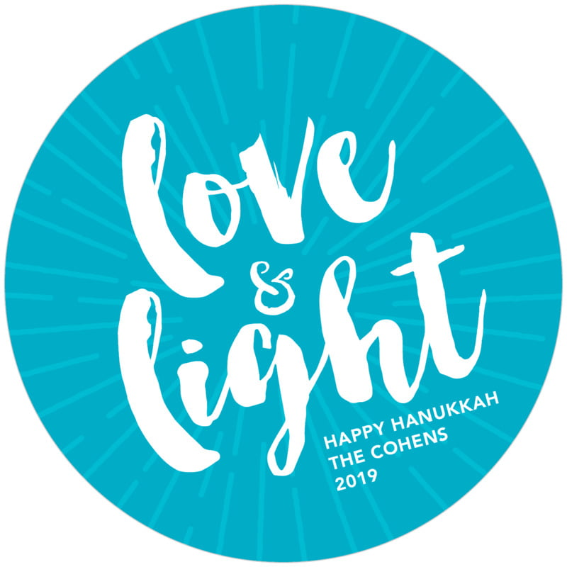 round holiday coasters - dark sky - love & light (set of 12)