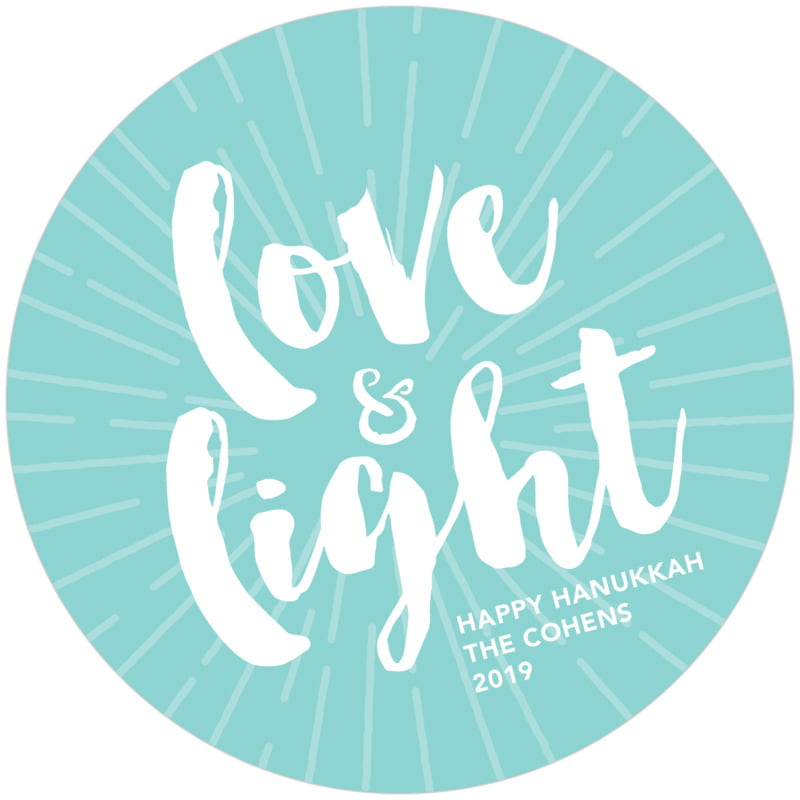 round holiday coasters - aruba - love & light (set of 12)