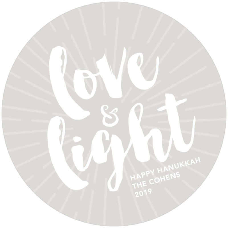 round holiday coasters - stone - love & light (set of 12)