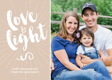 holiday cards - mocha - love & light (set of 10)