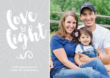 holiday cards - light grey - love & light (set of 10)