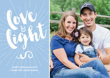 holiday cards - blue - love & light (set of 10)