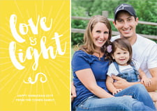 holiday cards - lemon - love & light (set of 10)