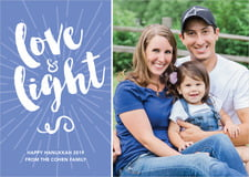 holiday cards - periwinkle - love & light (set of 10)
