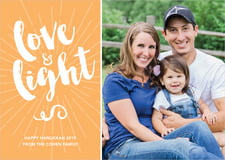 holiday cards - tangerine - love & light (set of 10)