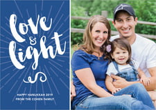 holiday cards - deep blue - love & light (set of 10)