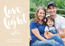 holiday cards - cappuccino - love & light (set of 10)