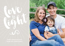 holiday cards - stone - love & light (set of 10)