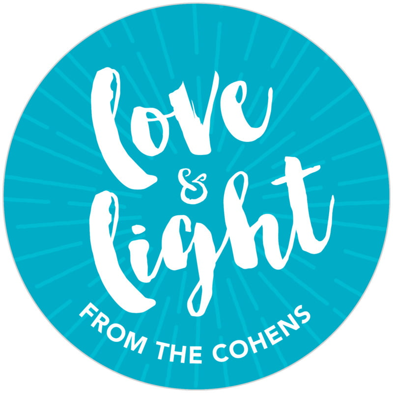 circle food/craft labels - dark sky - love & light (set of 20)