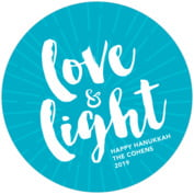 Love & Light Round Coaster In Dark Sky
