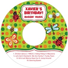 Lil' Bug Cd Label In Lime