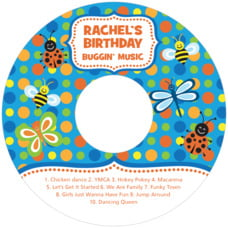 Lil' Bug birthday CD/DVD labels