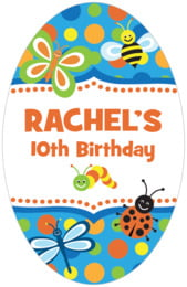 Lil' Bug tall oval labels