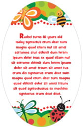 Lil' Bug oval text labels