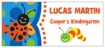 Lil' Bug Small Rectangle Label In Blue